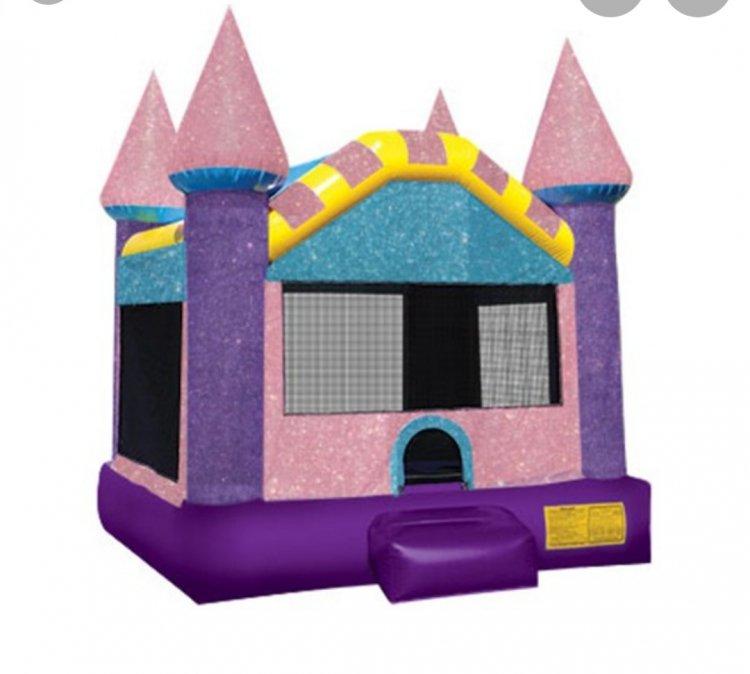 Pink Castle Bounce House $120